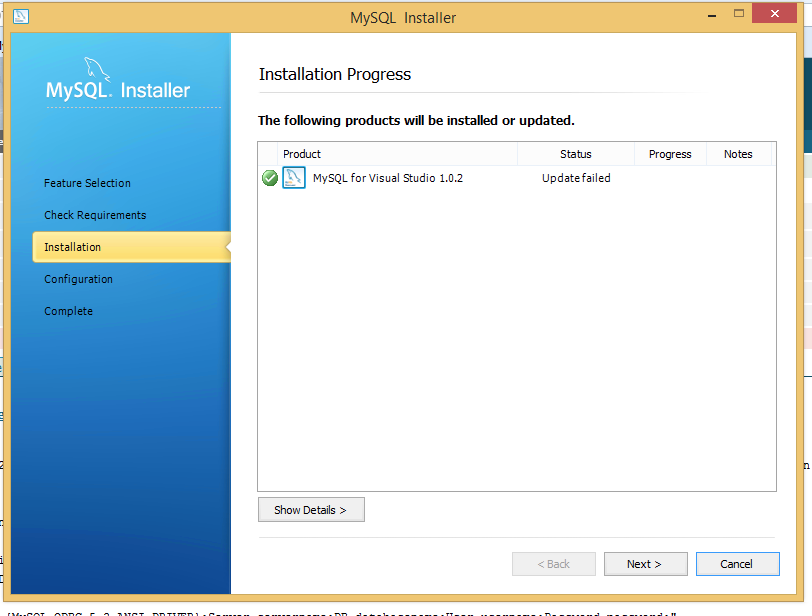 MySQL Bugs: #70590: Installation of MySql for Visual Studio