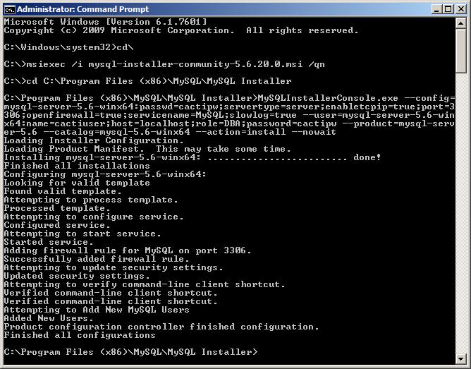 MySQL Bugs: #75171: MySQLInstallerConsole - Configuration file was