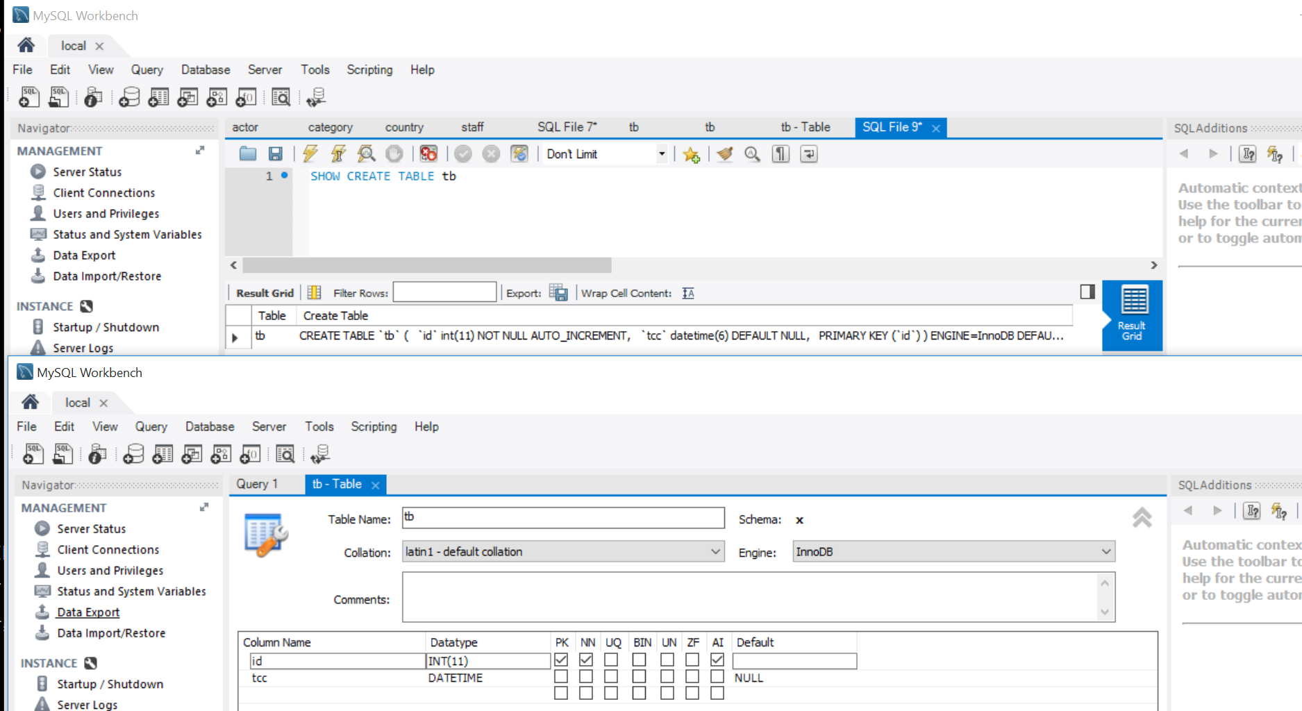 MySQL Bugs: #78153: Workbench SQL Editor DATETIME