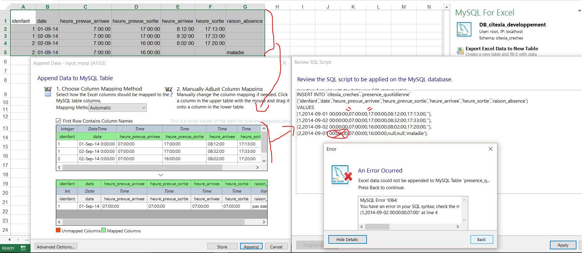 MySQL Bugs: #80079: Improper handling of Excel date prevents