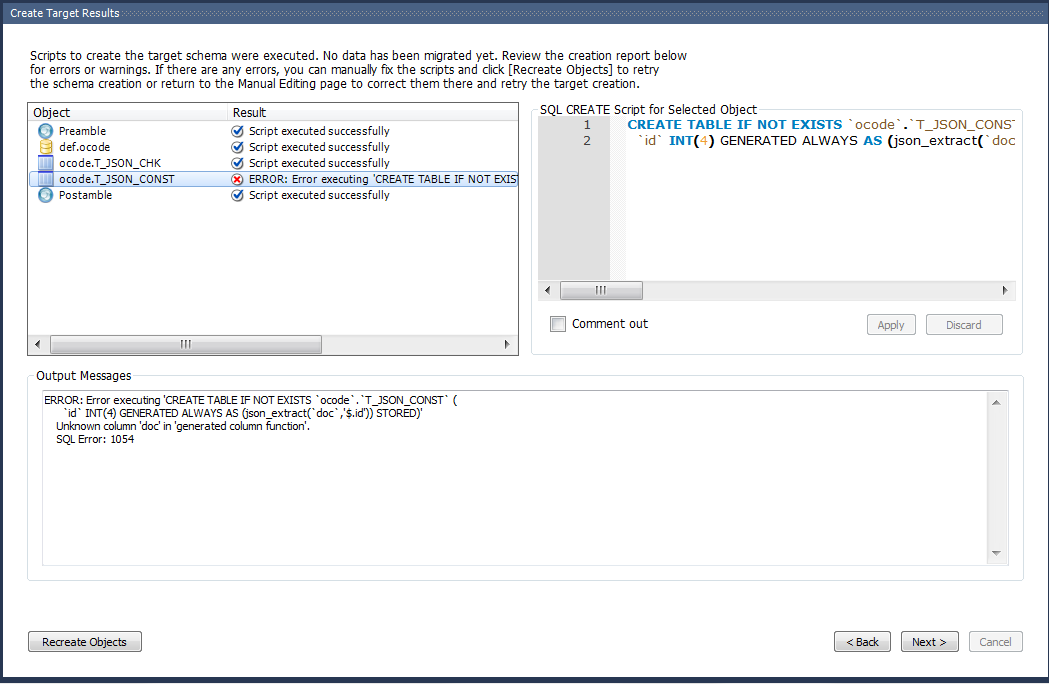 Mysql Bugs 86315 Workbench Can T Migrate Table If Generated